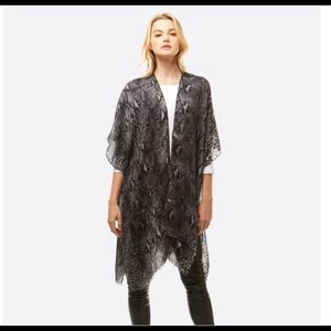 Black Python Kimono